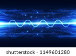vector wave visualization... | Shutterstock .eps vector #1149601280