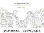 customer relations   line... | Shutterstock .eps vector #1149604316