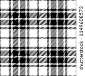 black and white tartan plaid...   Shutterstock .eps vector #1149608573