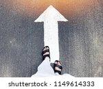 white arrow move forward...   Shutterstock . vector #1149614333