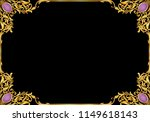 hand draw vintage gold baroque... | Shutterstock .eps vector #1149618143