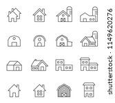 house line icon set vector... | Shutterstock .eps vector #1149620276