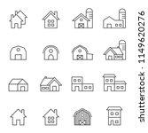 house line icon set vector... | Shutterstock .eps vector #1149620276