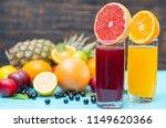 healthy tropical fruit blends... | Shutterstock . vector #1149620366