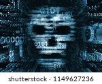 computer virus skull danger... | Shutterstock . vector #1149627236