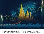 stock market or forex trading... | Shutterstock . vector #1149628763