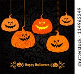 halloween party background with ... | Shutterstock .eps vector #114963349