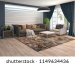interior of the living room. 3d ... | Shutterstock . vector #1149634436