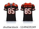 american football jersey t... | Shutterstock .eps vector #1149635249