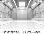 futuristic tunnel with light.... | Shutterstock . vector #1149636206