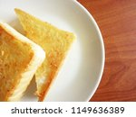 toasted slice of bread on white ... | Shutterstock . vector #1149636389