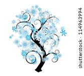 Blue And White Snowflake...