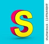 superhero letter s uppercase.... | Shutterstock . vector #1149644849