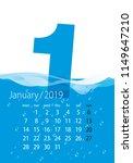 2019 calendar month january...   Shutterstock .eps vector #1149647210