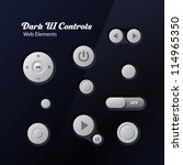 dark ui controls web elements ...