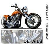 vector cartoon motorbike | Shutterstock .eps vector #114965380