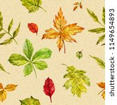 watercolor autumn seamless... | Shutterstock . vector #1149654893