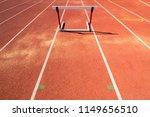 hurdle race barrier on red ... | Shutterstock . vector #1149656510
