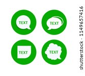 set of green message icons.... | Shutterstock .eps vector #1149657416