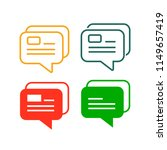 icons of message or chat or... | Shutterstock .eps vector #1149657419