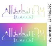 brasiliai skyline. colorful... | Shutterstock .eps vector #1149661010