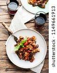 traditional sicilan eggplant... | Shutterstock . vector #1149661913
