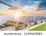 solar panels with wind turbines ... | Shutterstock . vector #1149663083