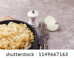 homemade caramelized onions in... | Shutterstock . vector #1149667163