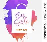 hand writing lettering sale... | Shutterstock .eps vector #1149668570