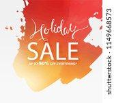 hand writing lettering sale... | Shutterstock .eps vector #1149668573