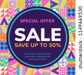 sale banner design template.... | Shutterstock .eps vector #1149669530
