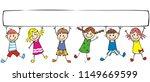 happy children and banner ...   Shutterstock .eps vector #1149669599