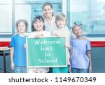 multi ethnic primary classroom... | Shutterstock . vector #1149670349