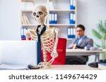 businessman working with... | Shutterstock . vector #1149674429