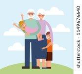 grandparents day card   Shutterstock .eps vector #1149676640