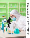 chemist working in the lab on... | Shutterstock . vector #1149678713