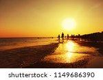 sea coast. beach on sunset | Shutterstock . vector #1149686390