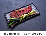 beef carved meat with grilled... | Shutterstock . vector #1149698150