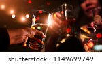 cheers clinking of friends... | Shutterstock . vector #1149699749