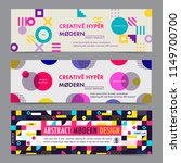 set of banner template with... | Shutterstock .eps vector #1149700700