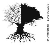 half branch half leaves tree... | Shutterstock .eps vector #1149701339