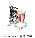 cinema art movie watching with... | Shutterstock .eps vector #1149715049