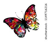 multicolored abstract butterfly ... | Shutterstock .eps vector #1149716216