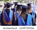 graduates at university... | Shutterstock . vector #1149719336