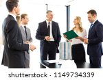 business meeting of architects... | Shutterstock . vector #1149734339