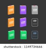 user manual vector big set.... | Shutterstock .eps vector #1149734666