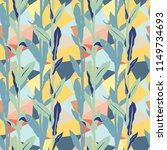 grunge floral pattern with... | Shutterstock .eps vector #1149734693