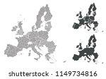 map of eu | Shutterstock .eps vector #1149734816