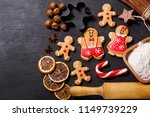 christmas food. homemade... | Shutterstock . vector #1149739229