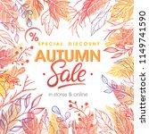 autumn special offer banner... | Shutterstock .eps vector #1149741590